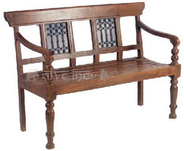 Chairs Antique Wooden Bench A77